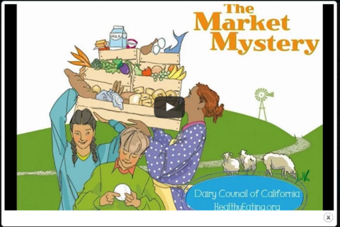 The Market Mystery digital narrated movie teaches where food comes from