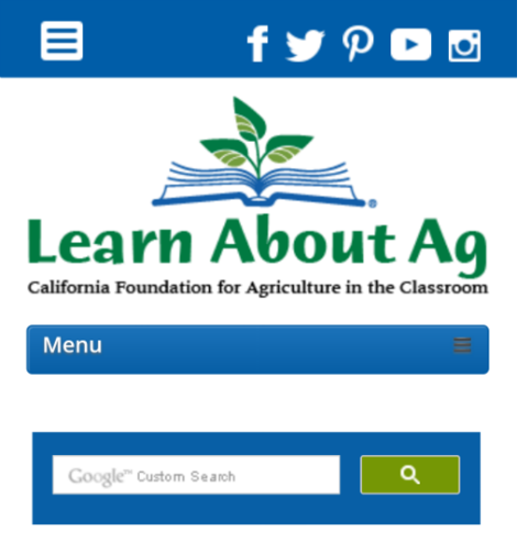 California Foundation for Agriculture in the Classroom has a new website at LearnAboutAg.org