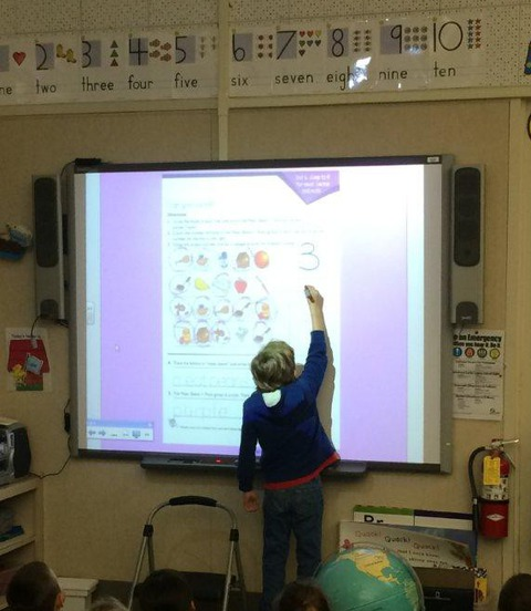 SMART Board nutrition activity for kindergarten