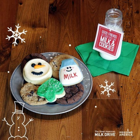 Great American Milk Drive Holiday Image Milk And Cookies