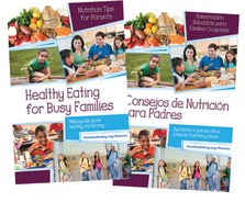 Healthy Eating for Busy Families Spanish English Booklet Covers