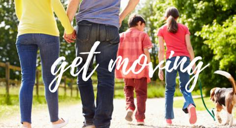 Get Moving Family Walking Image